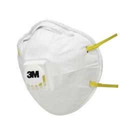 Máscara Descartável com Válvula Branco 3M