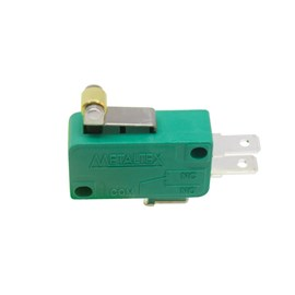 Micro Chave NS0-050D com Haste Curta e Rolete 10A Metaltex