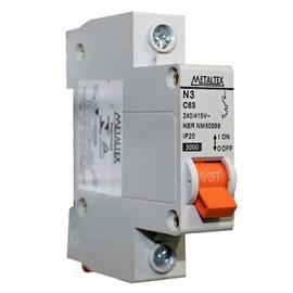 Mini Disjuntor 1 Polo 6A Metaltex