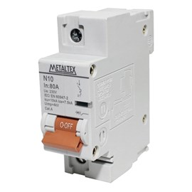 Mini Disjuntor 80A 10kA Metaltex