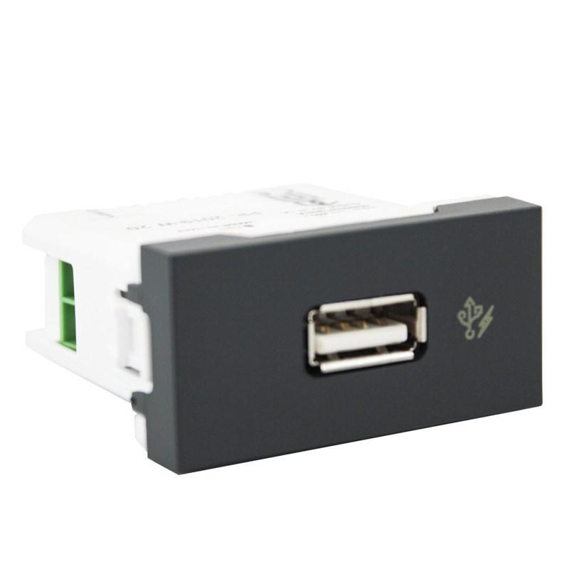 Módulo Orion USB Carregador Grafite Bivolt Schneider