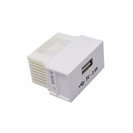 Módulo USB Carregador Branco Slim Ilumi