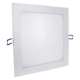 Painel LED de Embutir 12W Luz Amarela Quadrado Bivolt Empalux