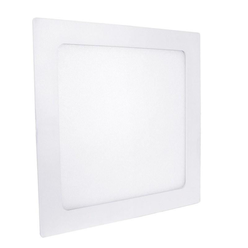 Painel LED de Embutir 20W Luz Branco Quente Quadrado Bivolt Save Energy