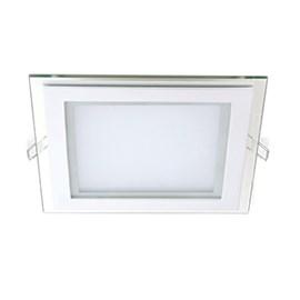 Painel LED de Embutir 6W Luz Amarela Quadrado Avant