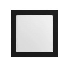 Painel LED de Embutir Jet Black 25W Luz Amarela Quadrado Preto Bivolt Save Energy