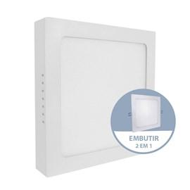 Painel LED de Embutir ou Sobrepor 24W Luz Branca Quadrado Bivolt Empalux