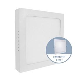 Painel LED de Embutir ou Sobrepor 24W Luz Branco Neutro Quadrado Bivolt Empalux