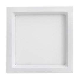 Painel LED de Embutir Recuado 25W Luz Branco Quente 300mm Branco Bivolt Save Energy
