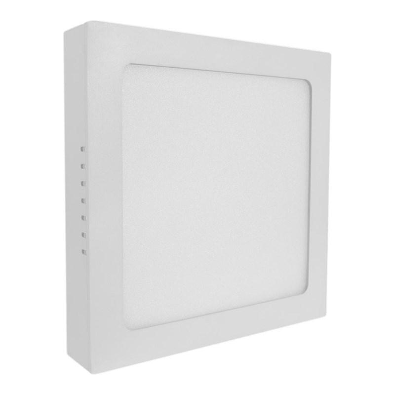 Painel LED de Sobrepor 18W Luz Branco Frio Quadrado Bivolt Empalux