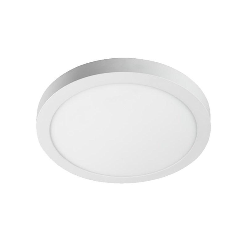 Painel LED de Sobrepor 24W Luz Branca Redondo Bivolt Bronzearte
