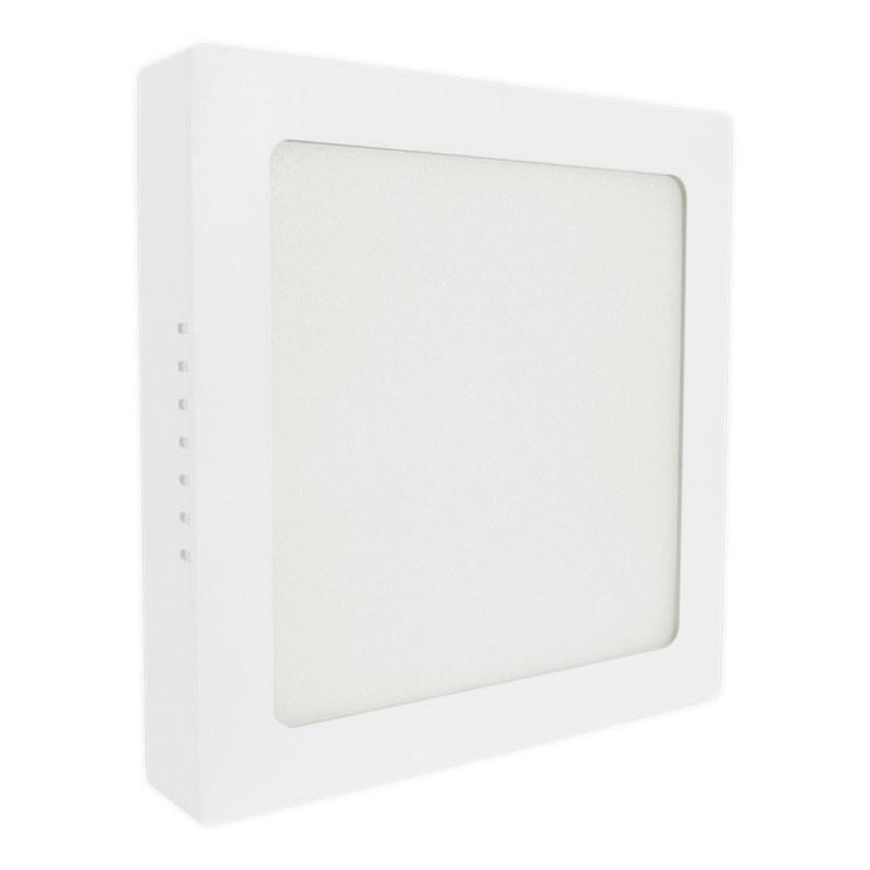 Painel LED de Sobrepor 24W Luz Branco Quente Quadrado Bivolt Empalux