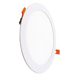 Painel LED Embutir 18W 3000K 22cm Redondo Bivolt VIT