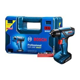 "Parafusadeira e Furadeira GSR 1000 1/4"" 12V SMART Bosch"