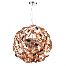 Pendente Aço PE-033 45cm 9 Lâmpadas Bronze Mais Luz
