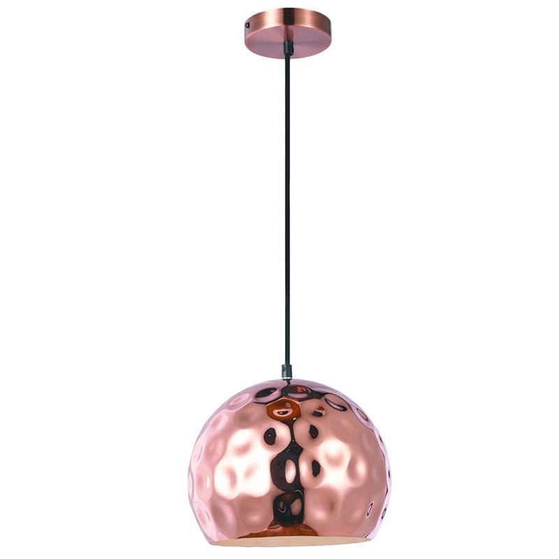 Pendente Bola em Metal com Detalhes Circulares D250 Cobre Eletrorastro