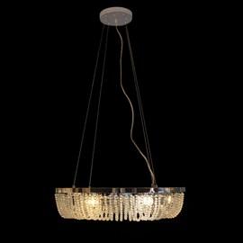 Pendente Cristal Redondo 6 Lâmpadas Transparente Eletrorastro