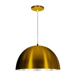 Pendente Cúpula Alumínio Dourado Skylux