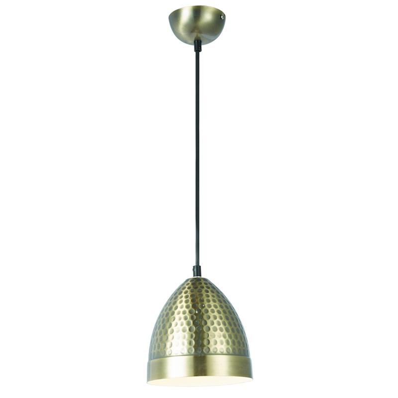 Pendente Cúpula em Metal D160 Bronze e Branco Brilhante Eletrorastro