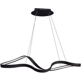 Pendente LED Flow Preto 30W Luz Branco Quente Bella