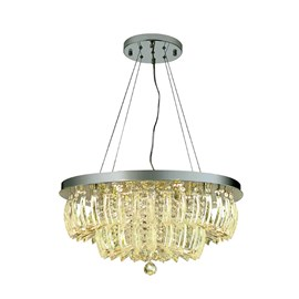 Pendente LED Ingrid Cristal Transparente 36W Redondo Luz Amarela Bivolt Startec
