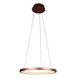 Pendente LED Montreal 40cm Cobre 20W Luz Branco Quente Bivolt Quality