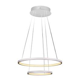 Pendente LED Montreal 50cm Branco 40W Luz Branco Quente Bivolt Quality