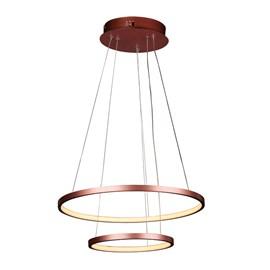 Pendente LED Montreal 50cm Cobre 40W Luz Amarela Bivolt Quality
