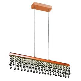Pendente LED Munique Retangular Cobre 12W Luz Neutra Bivolt Quality