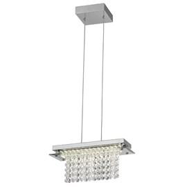 Pendente LED Versalhes Retangular 30cm Transparente 12W Luz Branco Neutro Bivolt Quality