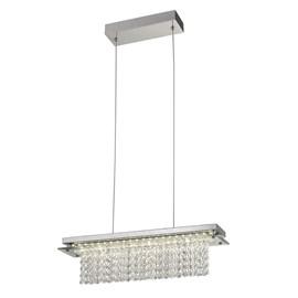 Pendente LED Versalhes Retangular 50cm Transparente 18W Luz Branco Neutro Bivolt Quality