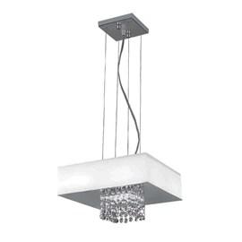 Pendente LED Vision Quadrado 30cm 20W Luz Branca 127V Bronzearte