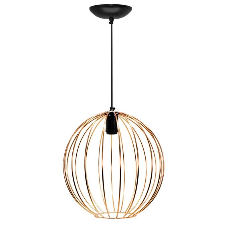 Pendente Wire Ball Grande Cobre JM Iluminação