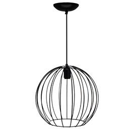 Pendente Wire Ball Grande Preto JM Iluminação