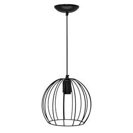 Pendente Wire Ball Pequeno Preto Bivolt JM Iluminação
