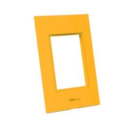 Placa 4x2 3 Módulos Amarela Beleze Enerbras