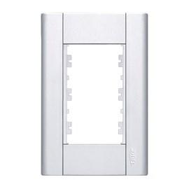Placa 4x2 3 Módulos Branca Modulare Fame
