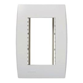 Placa 4x2 com Suporte 3 módulos Branco Ilus Iriel