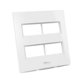 Placa 4X4 4 Módulos Distanciados Branca Beleze Enerbras
