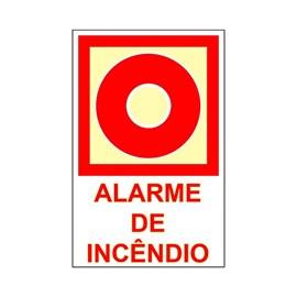 Placa Alarme de Incêndio Sinalize