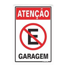 Placa Atenção Garagem Sinalize