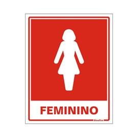 Placa Banheiro Feminino Sinalize