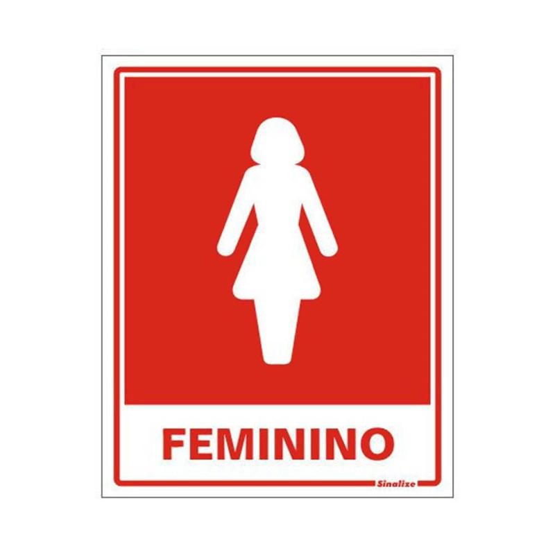 Placa Banheiro Feminino Sinalize - Eletrorastro 7f8fd2efc9