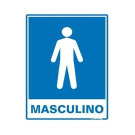 Placa Banheiro Masculino Sinalize