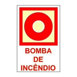 Placa Bomba de Incêndio Sinalize