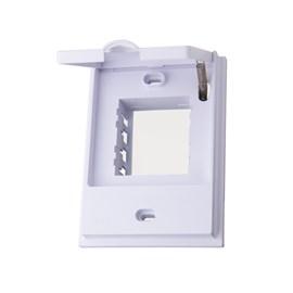Placa Externa com Suporte 4x2 2 Módulos Branca Belaqua Blux