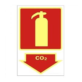 Placa Extintor CO2 Sinalize
