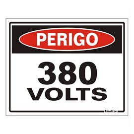 Placa Perigo 380V Sinalize