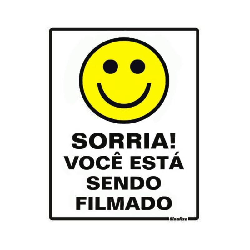 Placa Sorria Você está sendo Filmado Sinalize - Eletrorastro c0527fc1c1