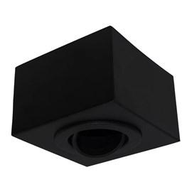 Plafon Box Preto Quadrado 12cm Para 1 Lâmpada Dicróica Bonin